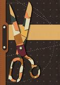 Cover leather scissors — Stock Photo