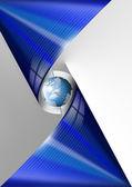 Blu business globale — Foto Stock