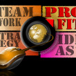 Stock Photo: Ideas strategy teamwork profit