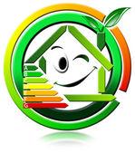 Ikona energeting oszczędności — Zdjęcie stockowe