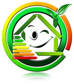 Ikona energeting spoření — Stock fotografie