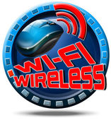 Wireless concept icon — 图库照片