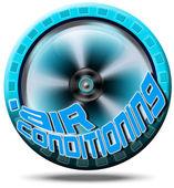 Ikona klimatizace — Stock fotografie