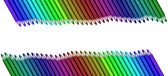 Wave of colored pencils — Stock Photo