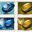 Mouse stamps e-mail — Stock Photo #7109564
