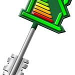 Home key energy certification — Stock Photo