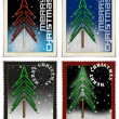 Foto Stock: Stamps merry christmas