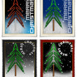 Stamps merry christmas — 图库照片