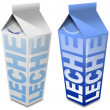 Leche carton - Milk carton — Stock Photo
