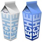 Leche carton - Milk carton — Stock Photo