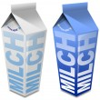 Milch carton - Milk carton — Stock Photo