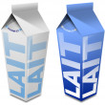 Lait carton - Milk carton — Stock Photo