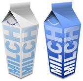 Milch carton - Milk carton — Stock Photo