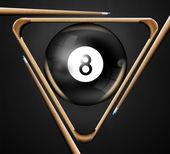 8 billiards pool games — Stock Photo