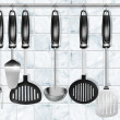 Постер, плакат: Horizontal set kitchen utensils