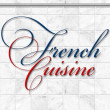 French cuisine set Kitchen utensils — Zdjęcie stockowe