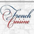 French cuisine set Kitchen utensils — Foto de Stock
