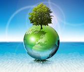 Wereld boom - ecologie concept — Stockfoto