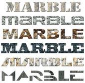 шесть слов мрамор — Стоковое фото