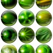 Fantastic Green Spheres — Foto Stock