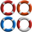 Set of life buoys — Stock Photo