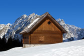 Mountain chalet in winter - Italy Alps — Stock Photo