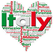 я люблю италия — Стоковое фото