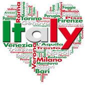 Eu amo a itália — Foto Stock