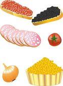 Разрешить написание латиницей foodstuffs — Stock Vector