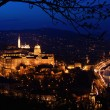 Budapest panorama by nightfall - Stock Photo