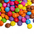 Multi colored smarties candy — Stock Photo