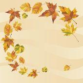 秋天的叶子旋流 — 图库矢量图片