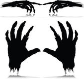 Monster hand vector silhouettes — Stock Photo