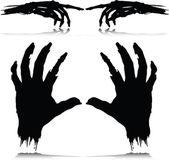 Monster hand vektor silhouetten — Stockfoto