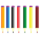 Paint pens in color vector illustration — Stock Photo