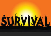 And survival illustration — Stock Photo