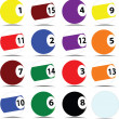Pool ball vector illustration - 图库照片