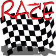 Racing checkered illustration — Stock Photo #7177167