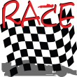 Racing checkered illustration — Stockfoto