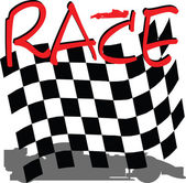 Racing checkered illustration — Stock Photo