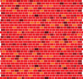 Red brick wall bacground — Stock Photo