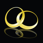 Ilustración de vector de escarda anillo de oro sobre fondo negro — Foto de Stock