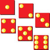 Ilustrace červené kostky — Stock fotografie