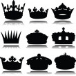Royal crowns vector silhouettes — Stock Photo #7263100