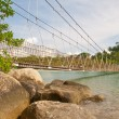 Long suspension bridge - Stock fotografie