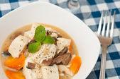 丝滑白豆腐 — 图库照片