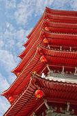 Torre de pagode chinês Oriental — Fotografia Stock