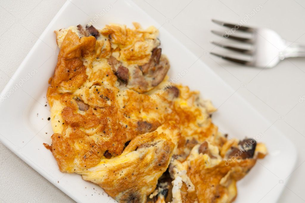 Simple but healthy egg omelet cooked Asian style. — Stock Photo #6839399