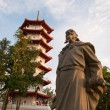 Historical statue and pagoda — Stock Photo #6842693