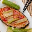 Sweet and sour fish delicacy - Foto Stock